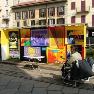 выставка Pittori sul Naviglio