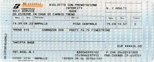 образец билета итальянских железных дорог