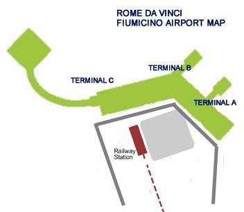 План аэропорта Фьюмичино