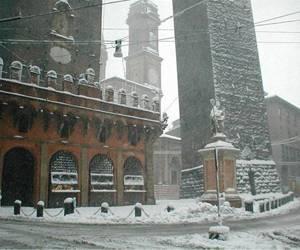 Болонья в снегу