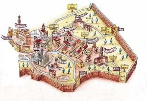Историческая карта Сиены