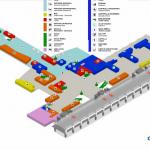 Схема второго уровня аэропорта в Кальяри