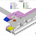 Схема третьего уровня аэропорта в Кальяри