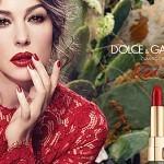 Моника и реклама помады от Dolce & Gabbana