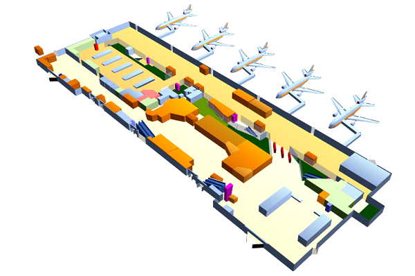 Схема аэропорта Ольбии