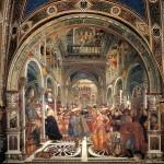 Внутренее оформление Санта-Мария-делла-Скала в Сиене
