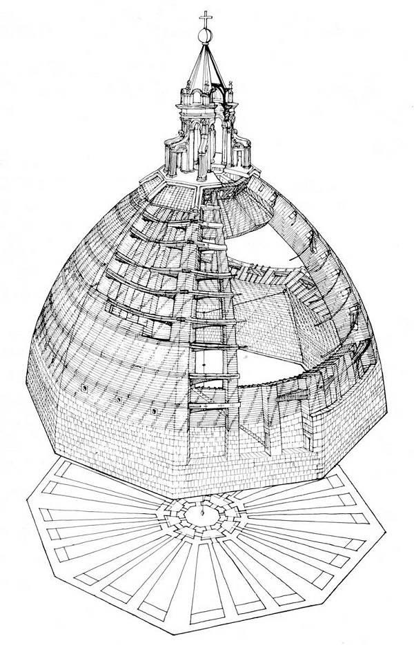 Купол Брунеллески (план)