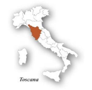 Тоскана на карте Италии