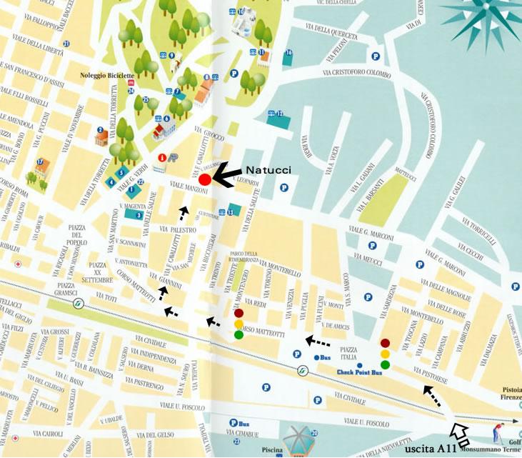 Карта курорта Монтекатини Терме