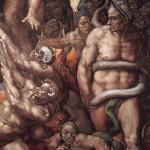 Фрагмент картины Микеланджело трашный суд